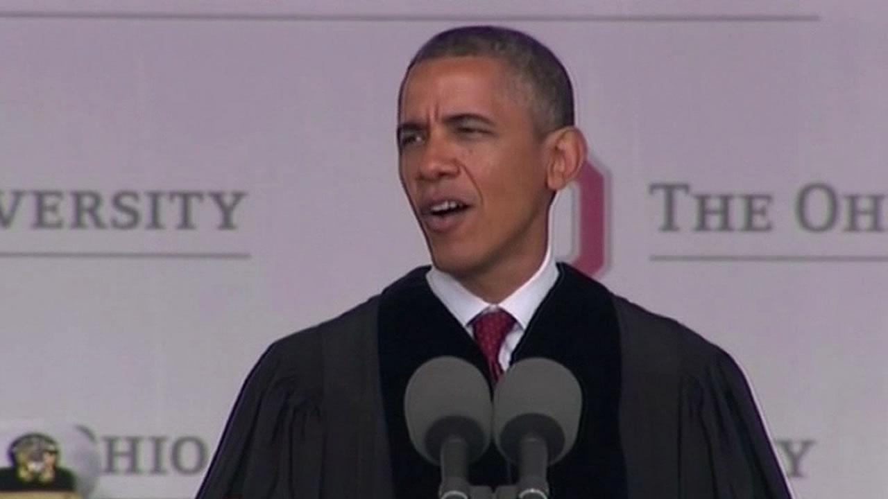Obama delivers commencement speech at Ohio University