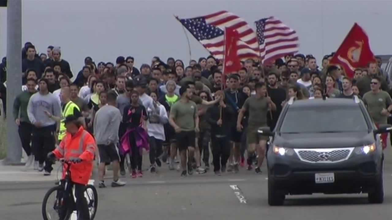 A memorial run was held in Fremont Saturday near where a Union City Marine died.