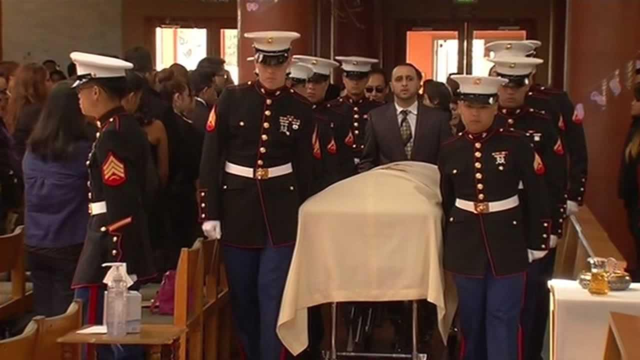 A funeral for a U.S. Marine from Union City who was killed in a crash last month was held Friday.