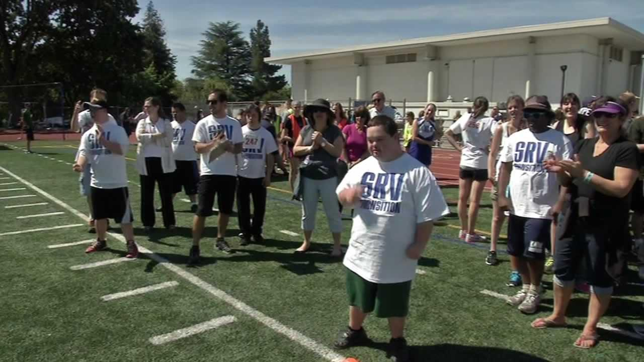 Special Olympics event at Acalanes High School in Lafayette, Calif.