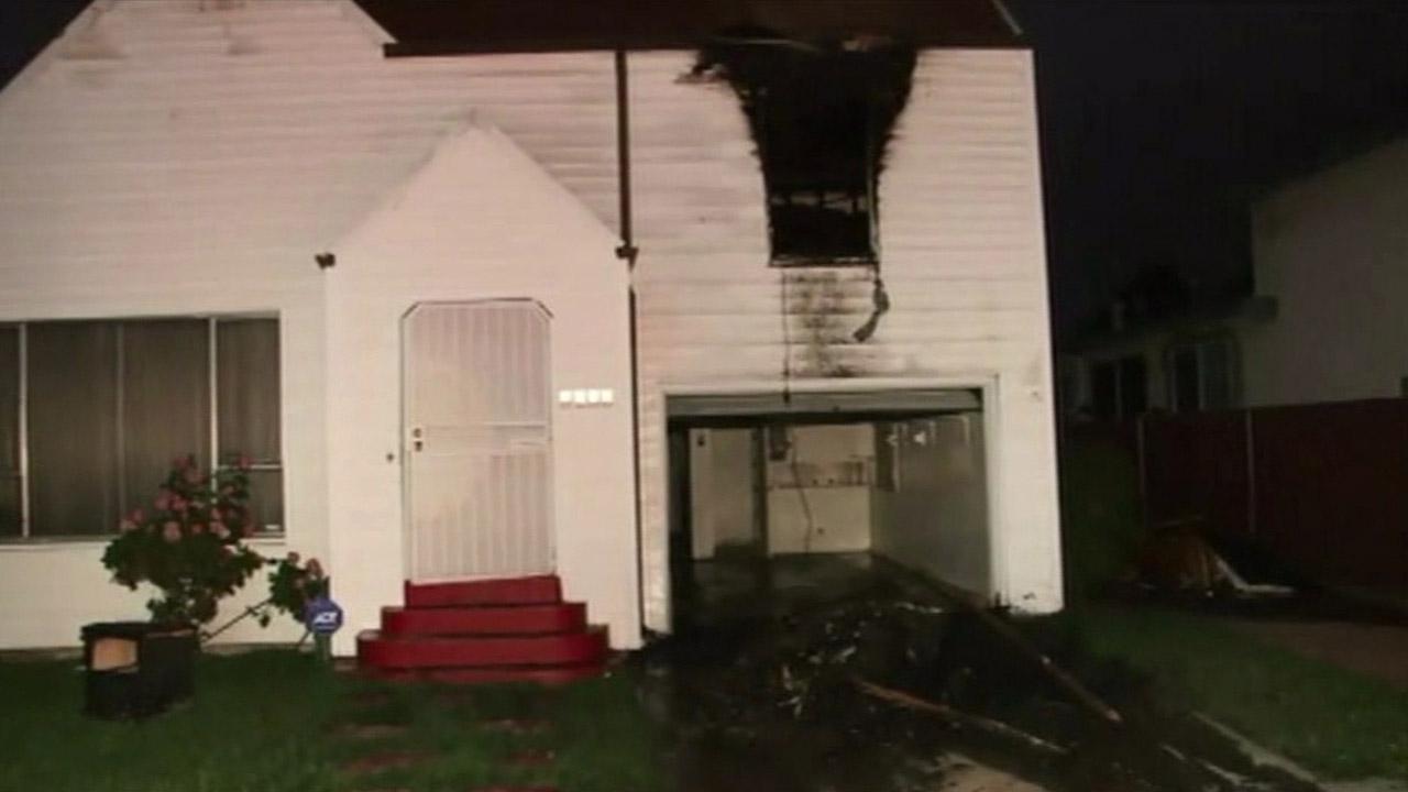 House fire in Oakland