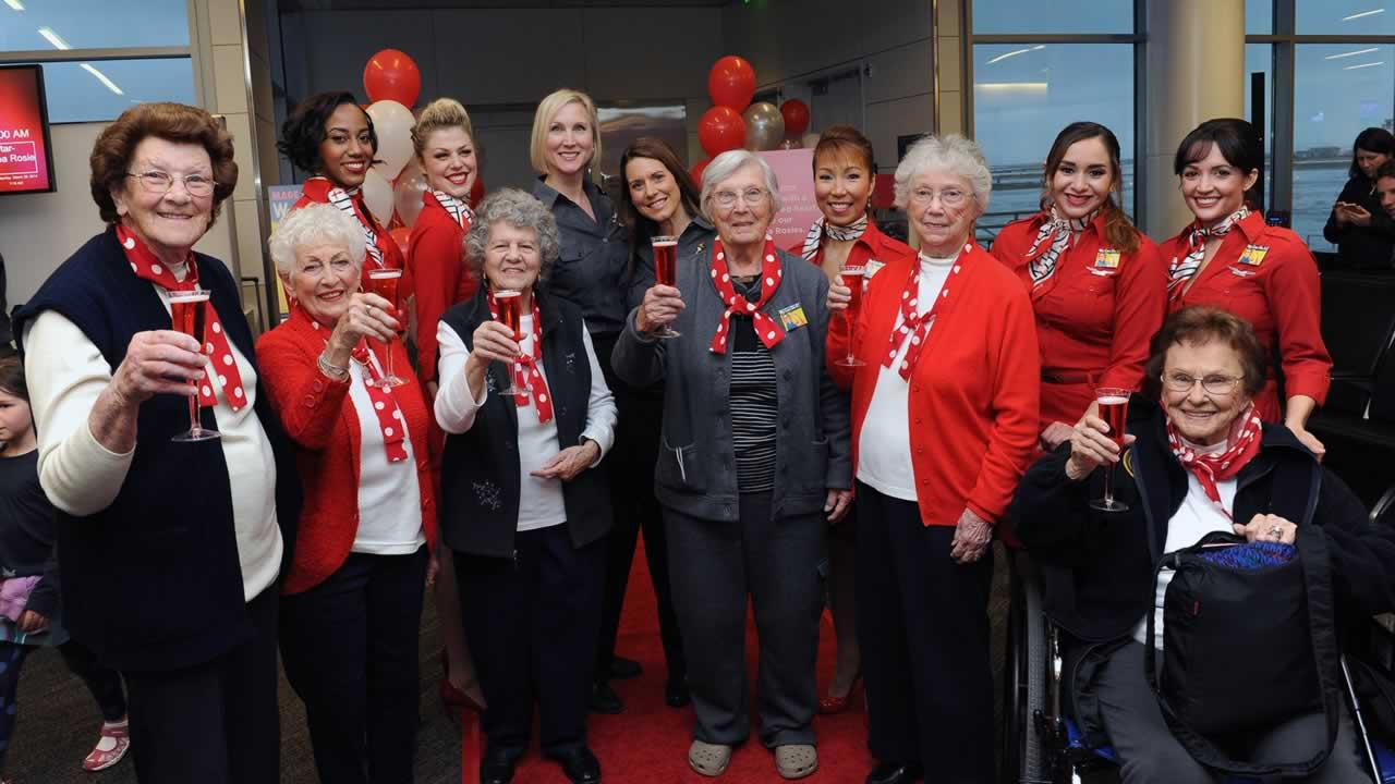 Five original Rosie the Riveters from the Bay Area are on their way to the White House to meet Vice President Joe Biden.