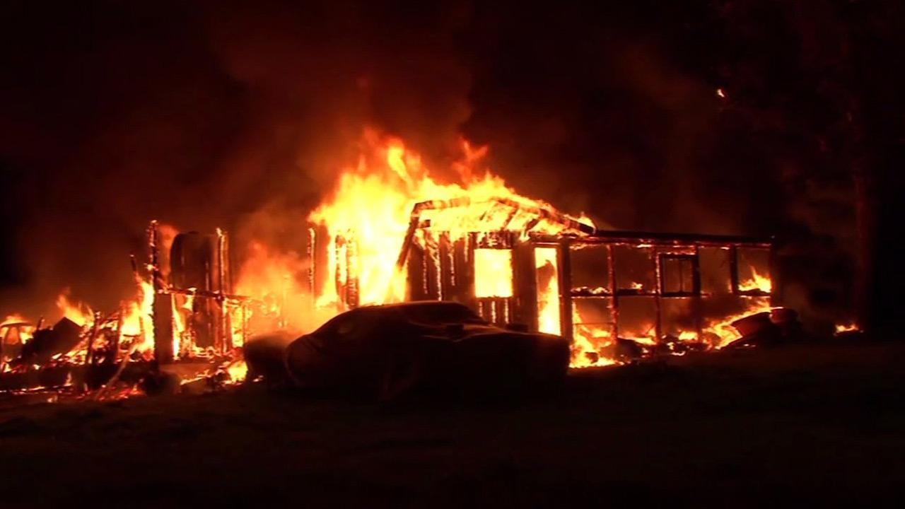 Fire in Sonoma County.