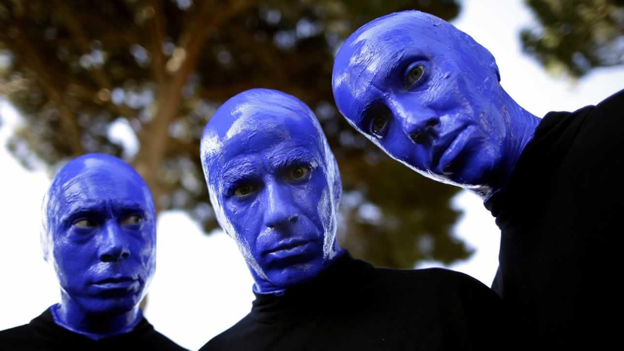Members of Blue Man Group.
