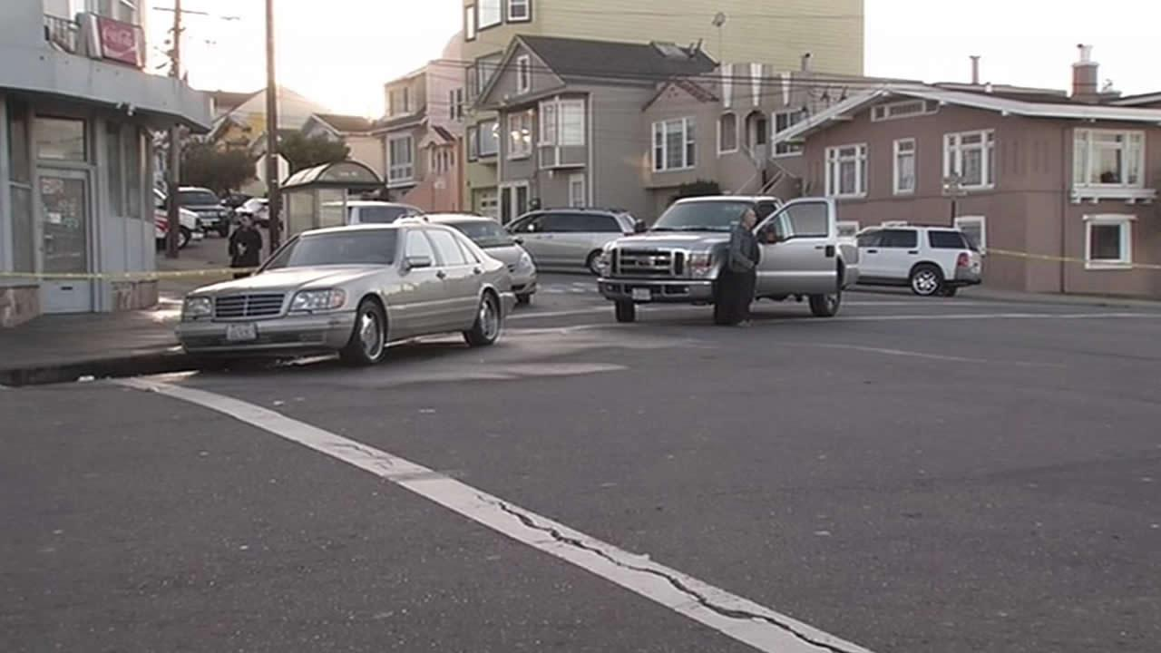 A man was struck and killed at Naples and Rolph streets in San Franciscos Crocker-Amazon neighborhood
