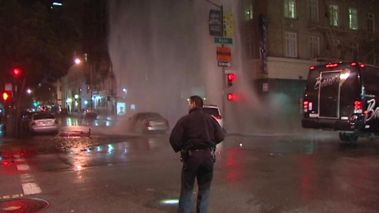 Hydrant struck in San Franciscos Tenderloin overnight.