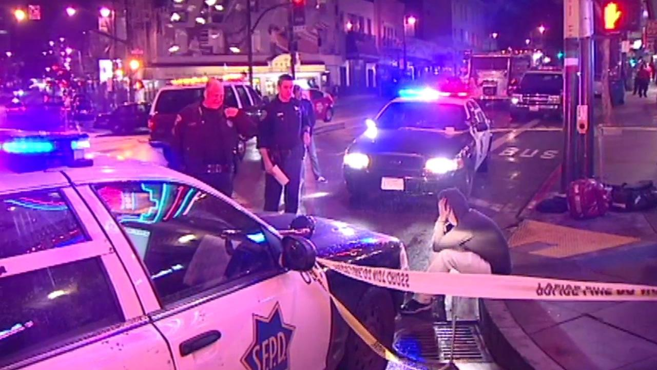 San Francisco police investigate multiple stabbing at Broadway and Columbus.