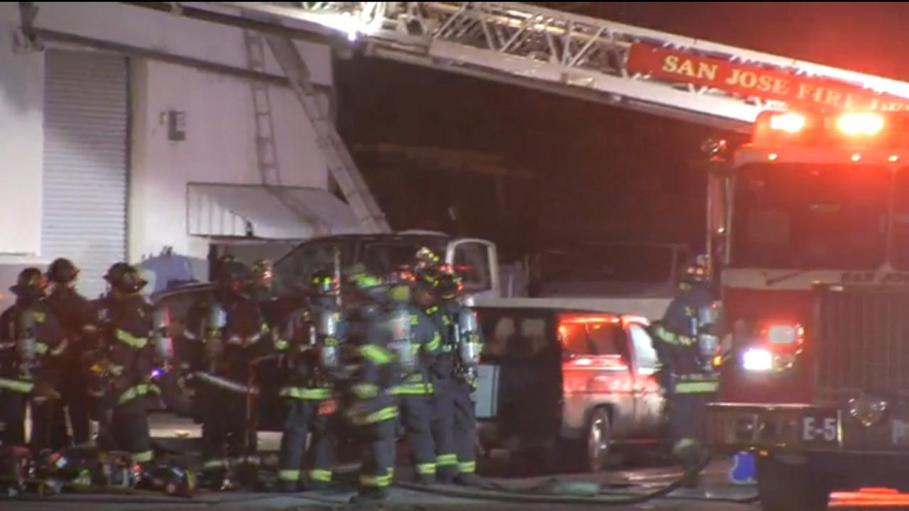 Fire in San Jose