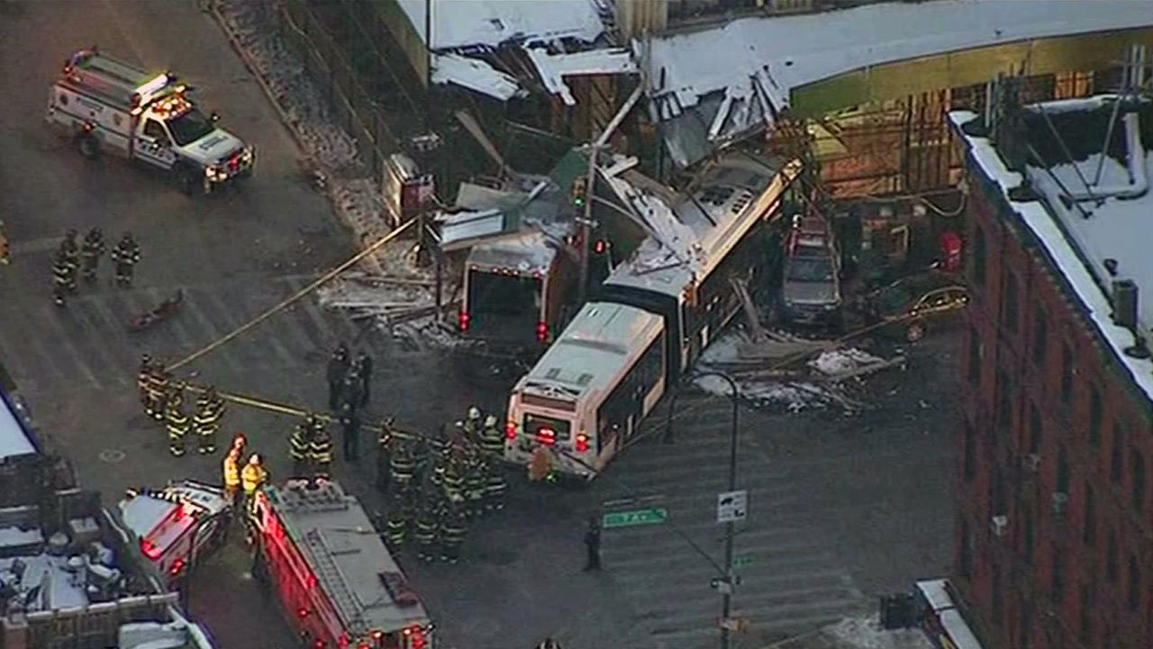 Bus crash in New York City.