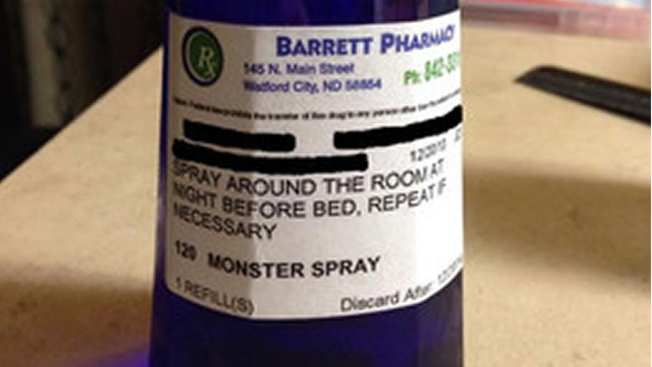 A pharmacist in North Dakota went out of his way to help a girl who couldnt sleep at night because she was scared of monsters.