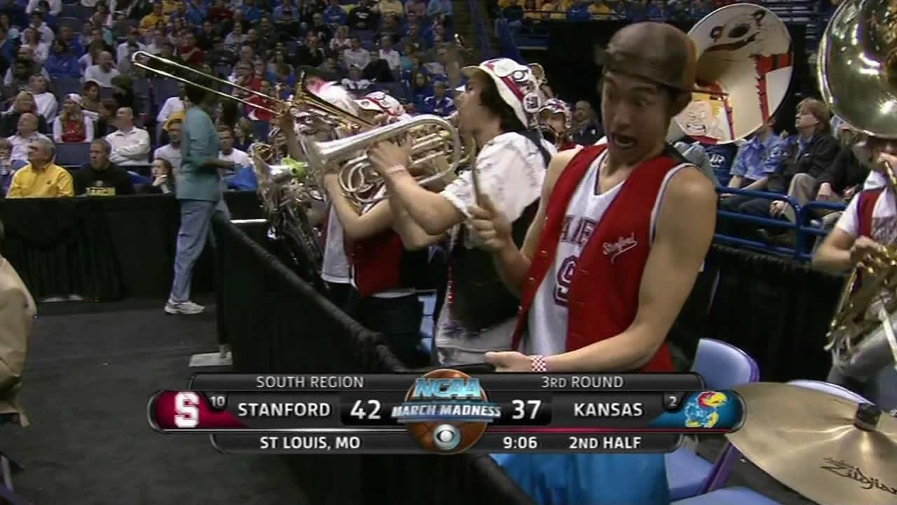 Stanford cowbell band player
