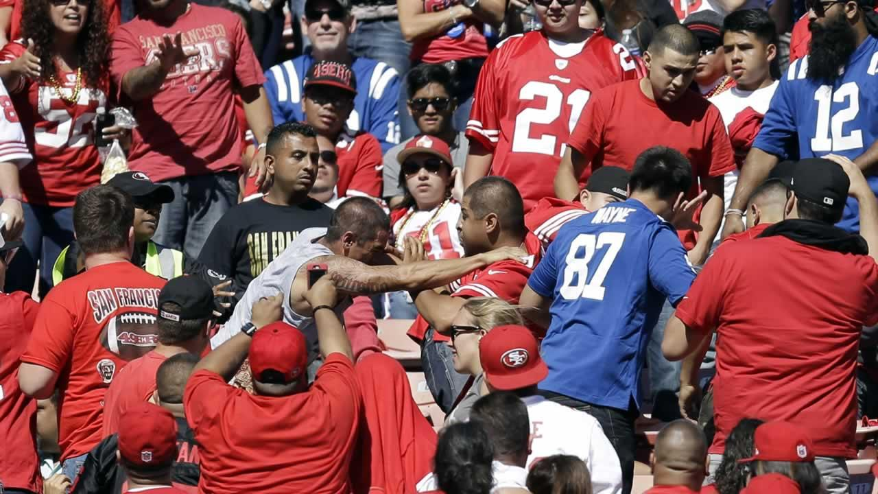 Fan violence at the San Francisco 49ers game.