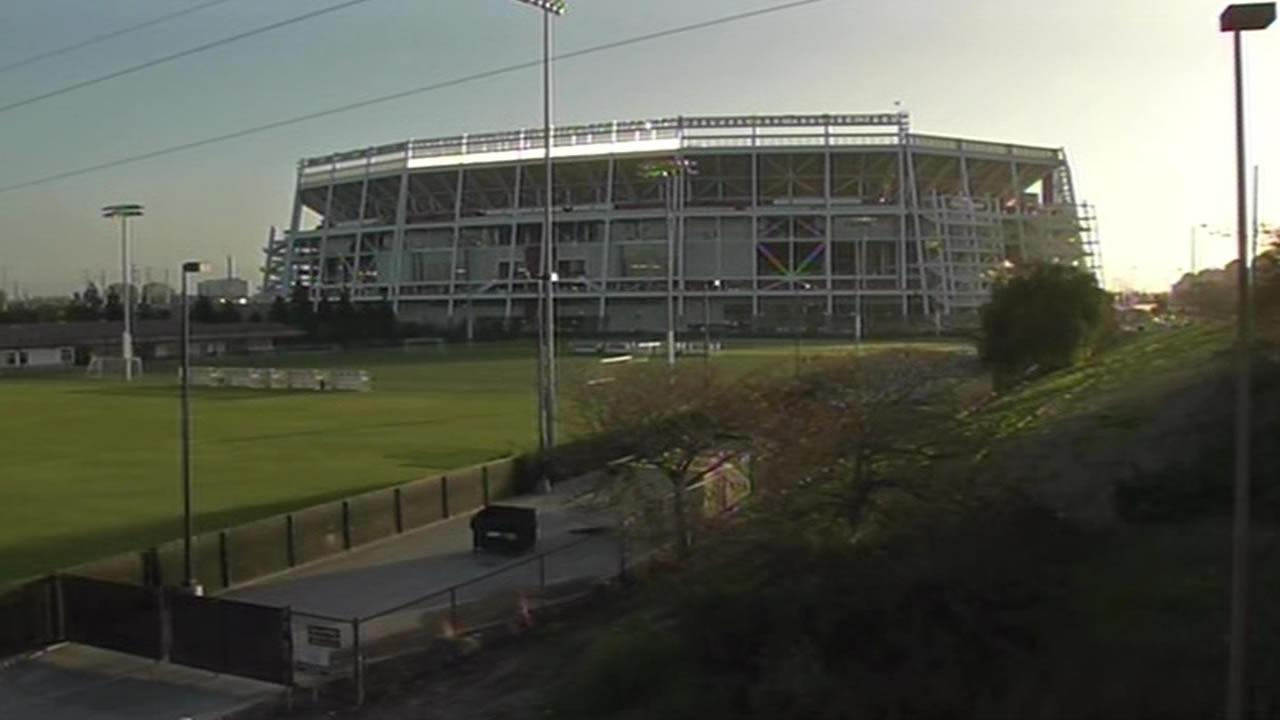 Youth Soccer League fields nest to the new 49ers Levi Stadium