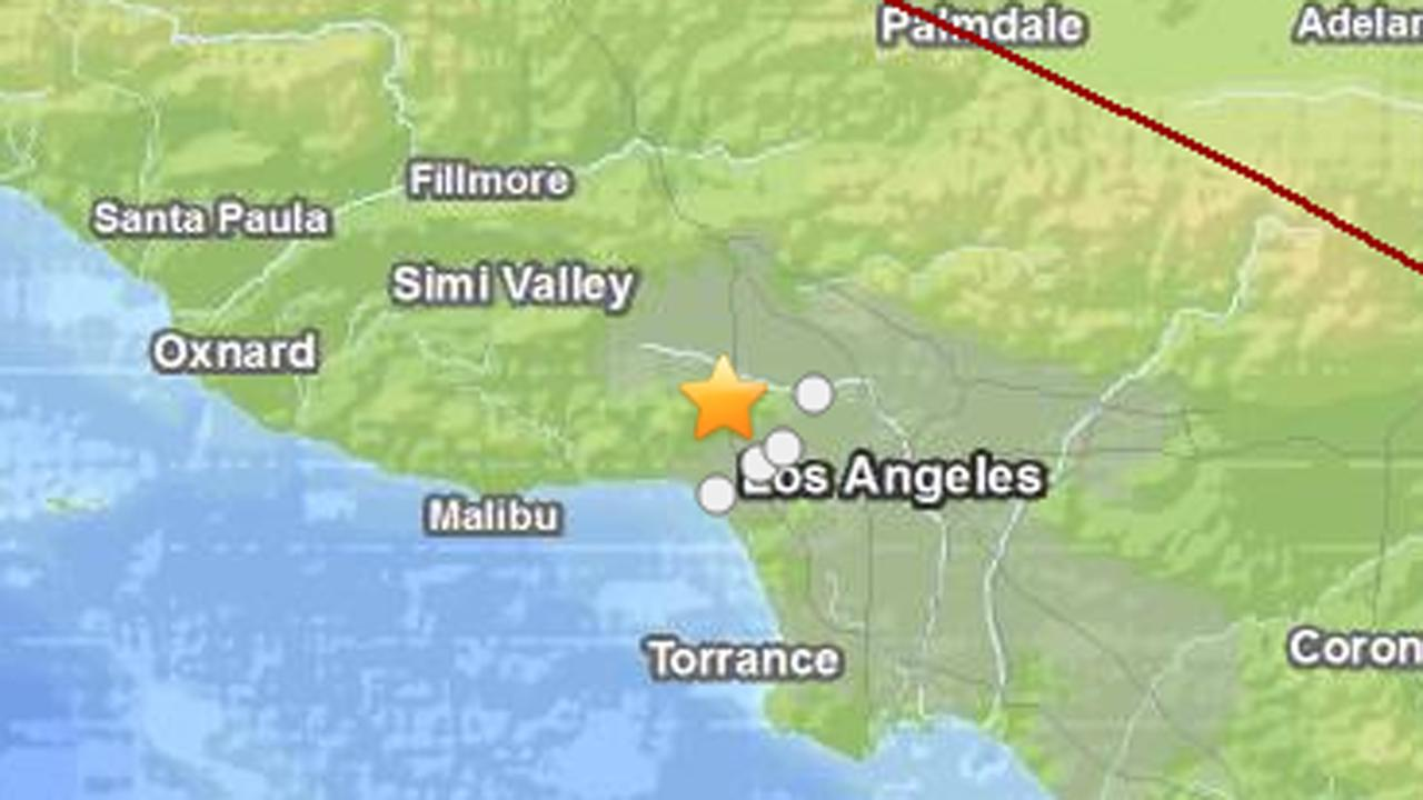 Earthquake in the greater Los Angeles area (USGS)