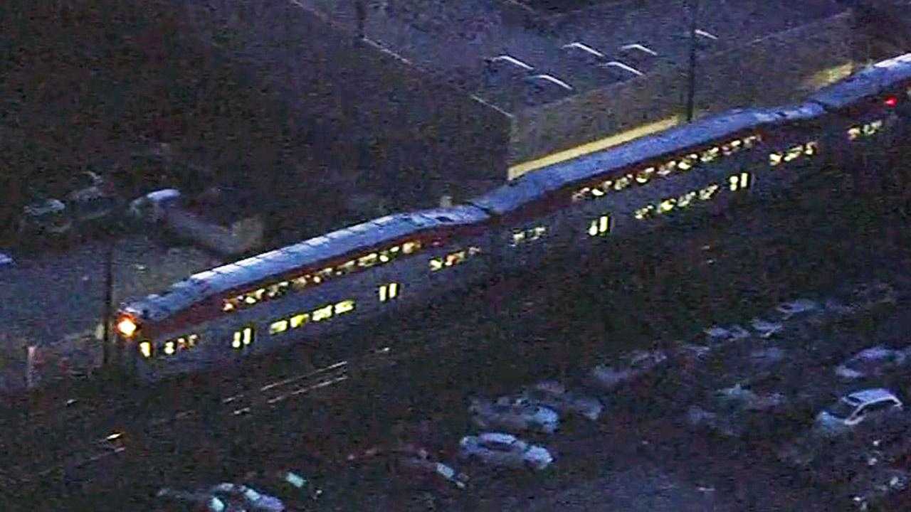 Caltrain accident scene