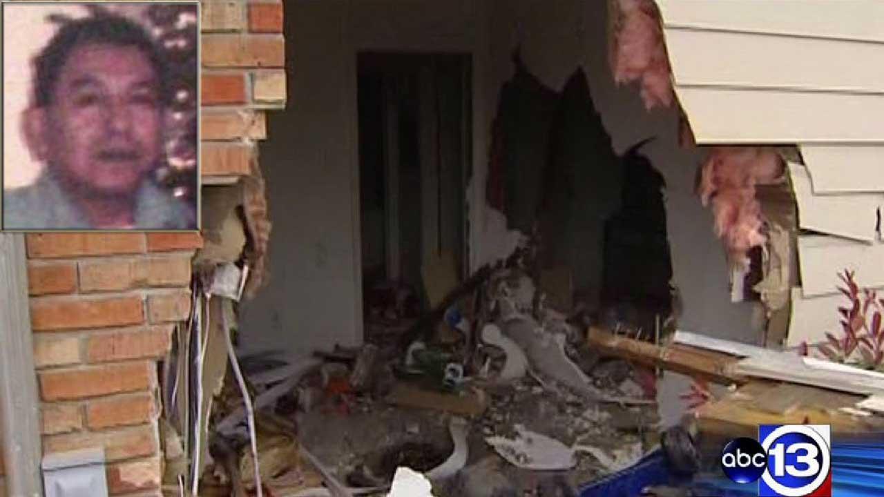 Car slams into east Houston apartment, injures sleeping man