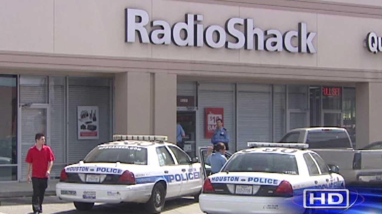 Police are searching for two suspects who robbed a Radio Shack in the Heights Saturday.