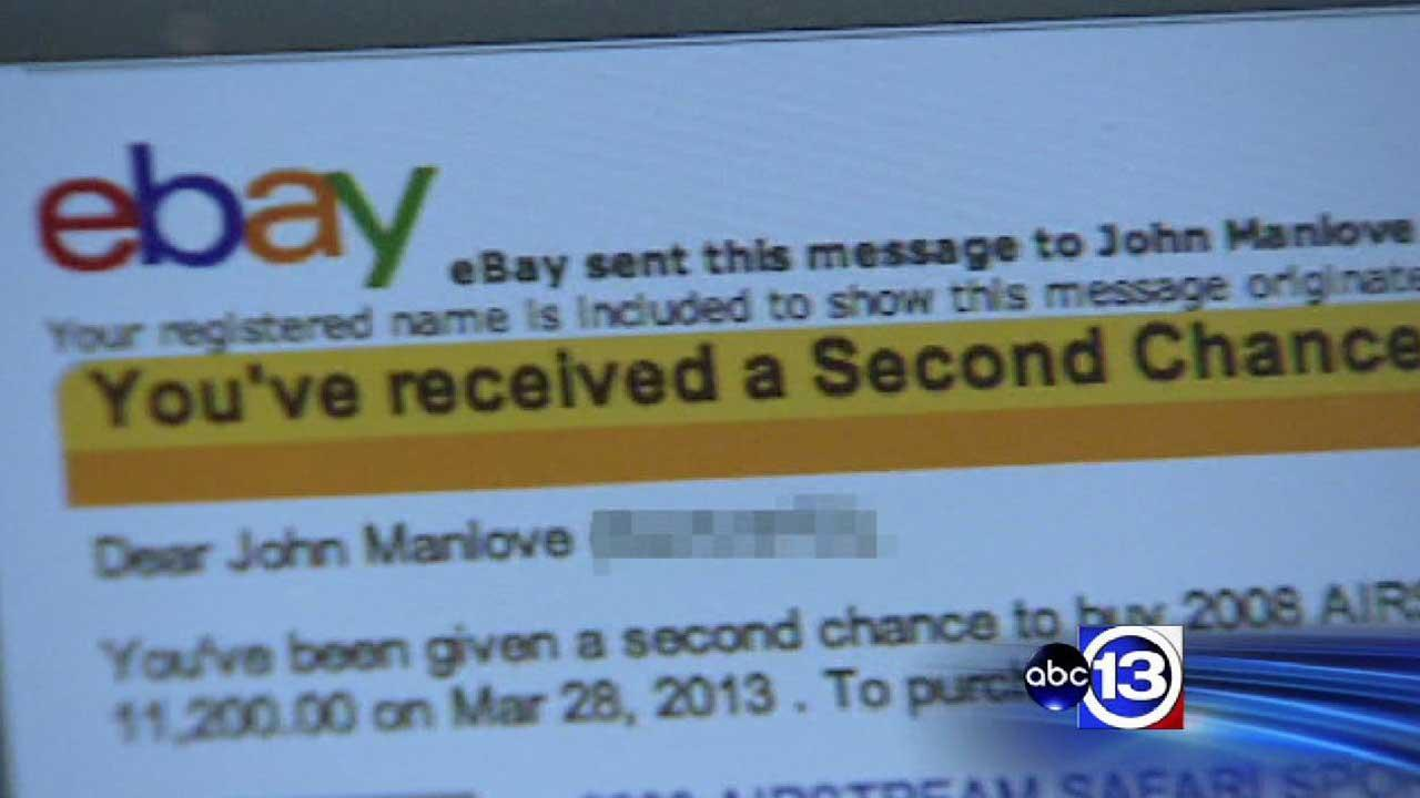Emails offering second-chance to buy item from lost eBay auction can be scams