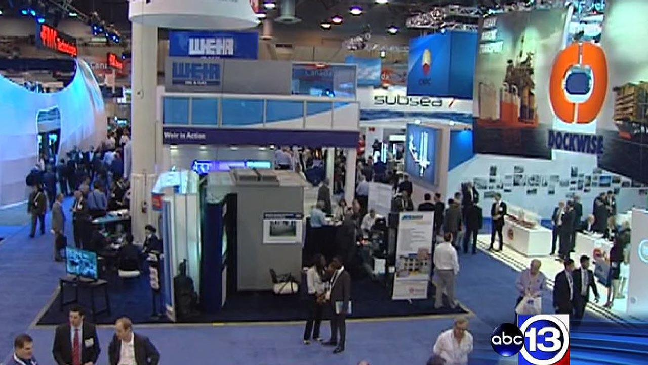 Thousands of people working in the petroleum industry are in Houston this week for the annual Offshore Technology Conference.