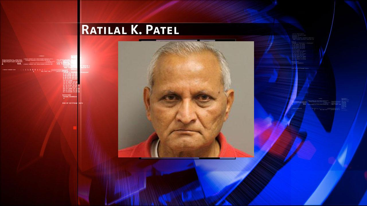 Ratilal K. Patel, 73, is charged with prostitution. Harris County Sheriffs Office Vice Unit investigators made a dozen arrests on Tuesday, May 7, 2013, during an undercover prostitution sting in north Harris County.HCSO