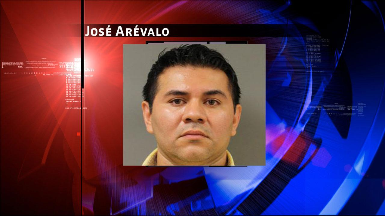 Jose Arevalo, 40, is charged with prostitution. Harris County Sheriffs Office Vice Unit investigators made a dozen arrests on Tuesday, May 7, 2013, during an undercover prostitution sting in north Harris County.HCSO