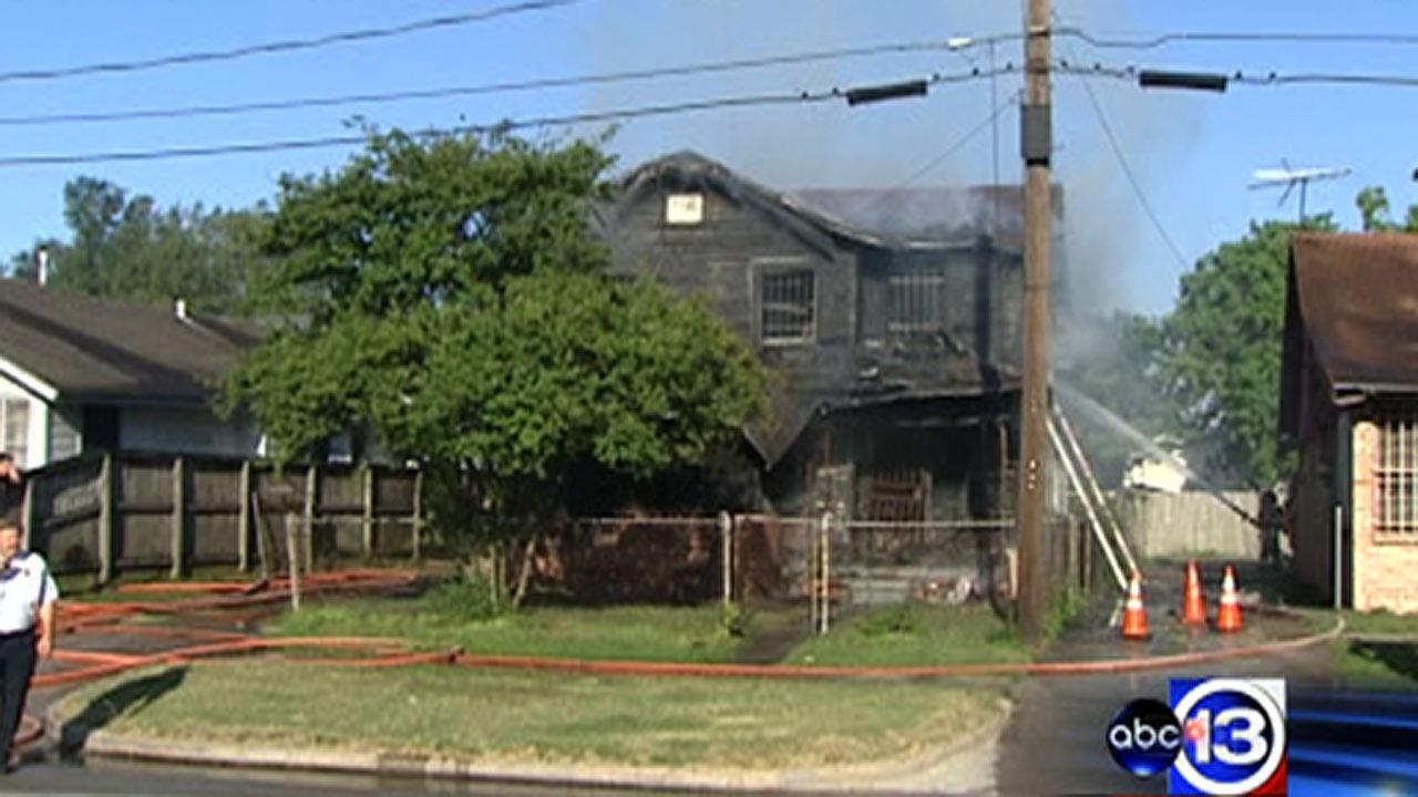 Investigators are looking into what sparked a house fire in northeast Houston