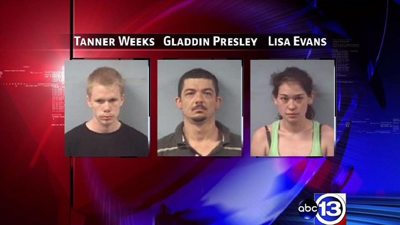 Tanner Weeks, Gladdin Presley, and Lisa Evans