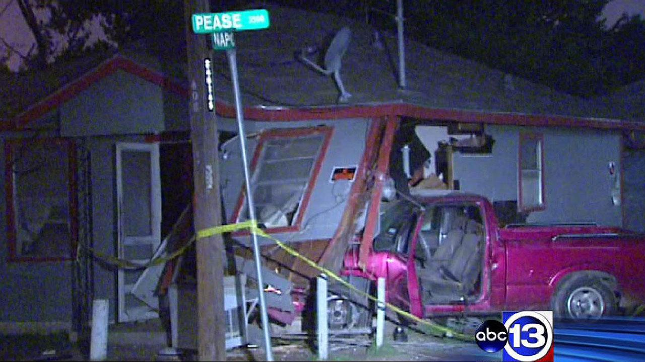 Police say a driver crashed into a southeast Houston house after being shot in the head.