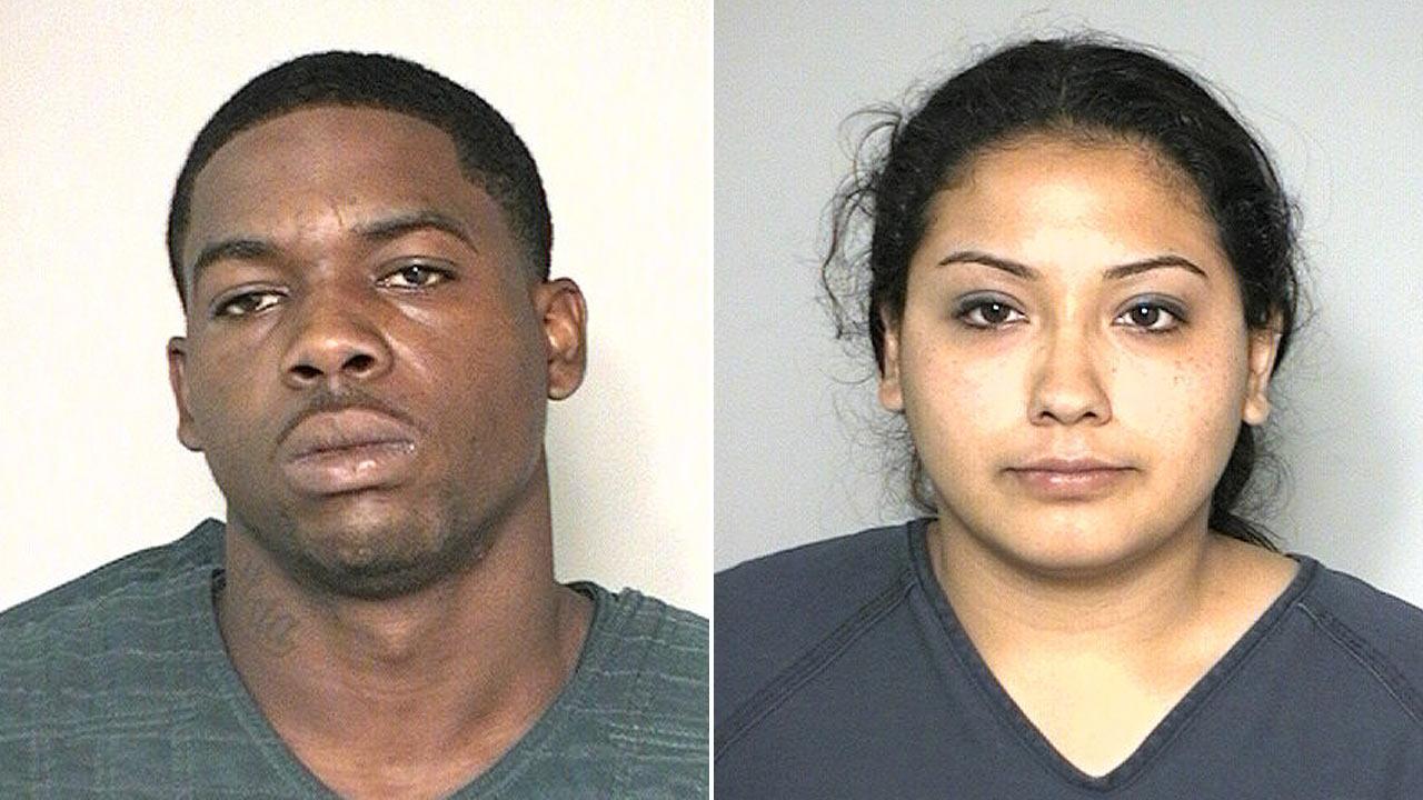 Dominique Moore, 24, of Houston, and Priscilla Perez, 22, of Houston
