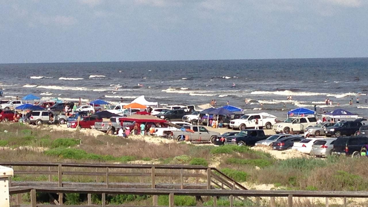 This photo of the crowded beach at Surfside was submitted by an ABC13 viewer through our iWitness Reports. Send your photos to news@abc13.com.