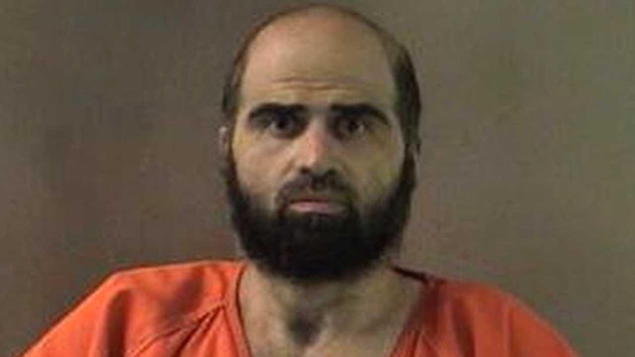 This undated file photo provided by the Bell County Sheriffs Department shows Nidal Hasan the Army psychiatrist charged in the deadly 2009 Fort Hood shooting rampage that left 13 dead.  (AP Photo/Bell County Sheriffs Department, File)