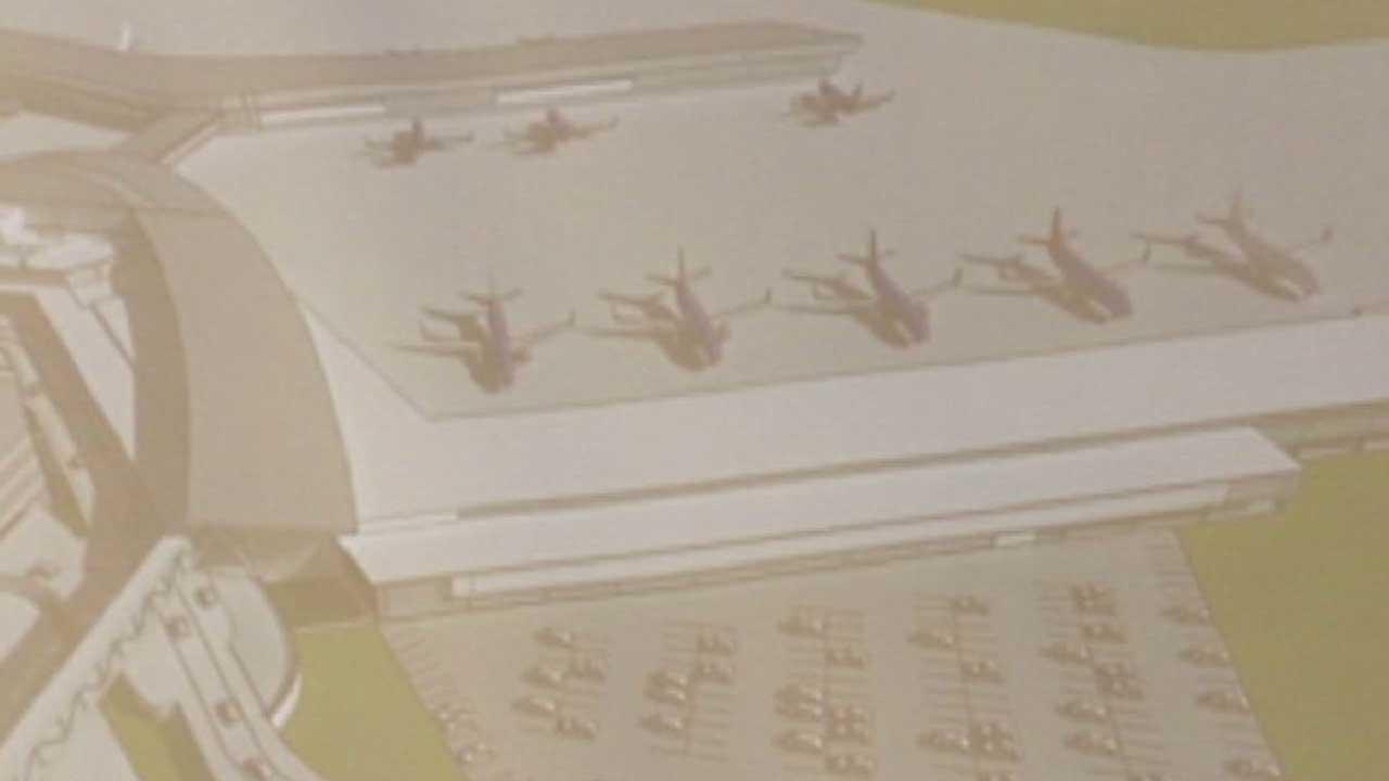 Artist rendering of Southwest Airlines international terminal