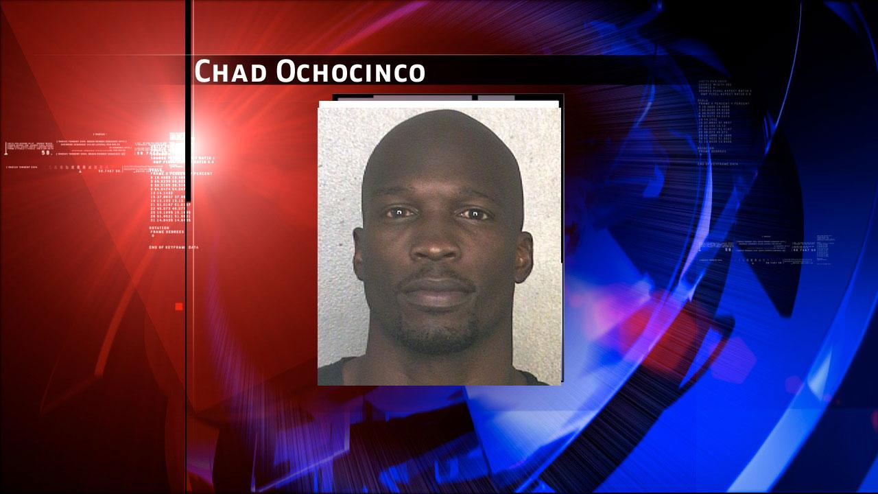 This arrest photo made available by the Broward County Sheriffs Office shows former NFL wide receiver Chad Johnson Monday, May 20, 2013. Johnson has been arrested on charges that he violated probation stemming from an altercation with his now ex-wife, TV reality star Evelyn Lozada.  (AP Photo/Broward County Sheriffs Office)