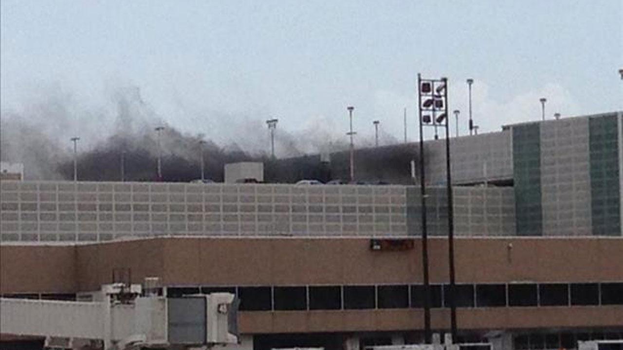Car fire causes airport travel headaches