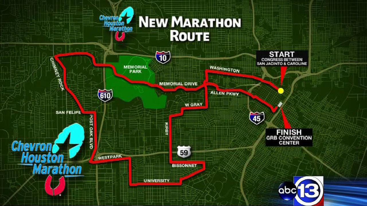 Chevron Houston Marathon announces new course