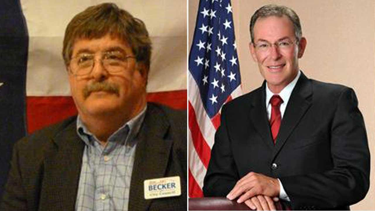 Councilmembers   Daniel Becker (left) and Dennis OKeeffe (right) were both issued tickets for Disorderly Conduct -- Fighting, a Class C misdemeanor.