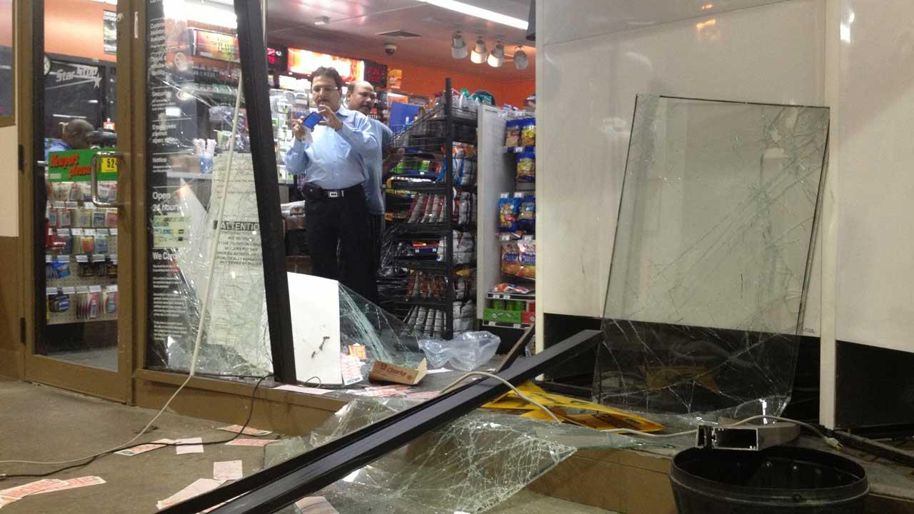 It happened at an Exxon-Mobil gas station on Silver and Crockett near downtown Houston around 3:30am.