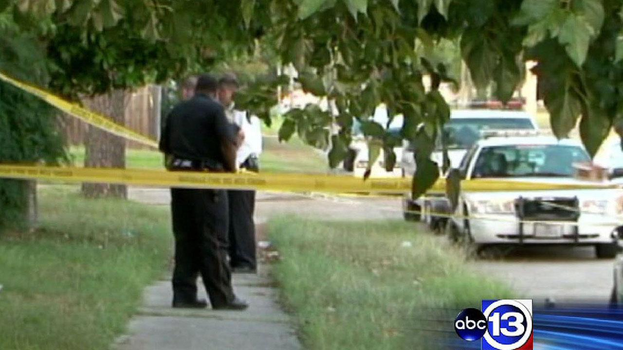 Deputies say a man was murdered on this northwest Harris County sidewalk, and the shooter remains at large