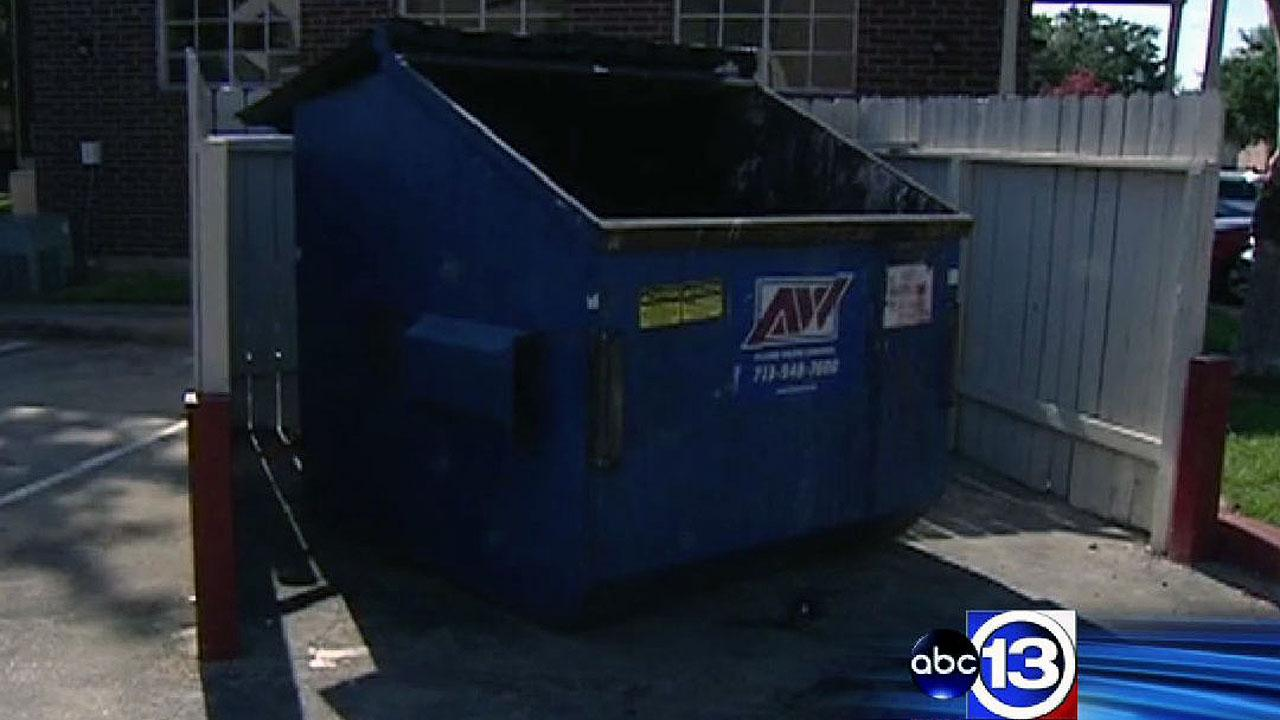 Newborn found behind dumpster at southeast Harris County apartment complex