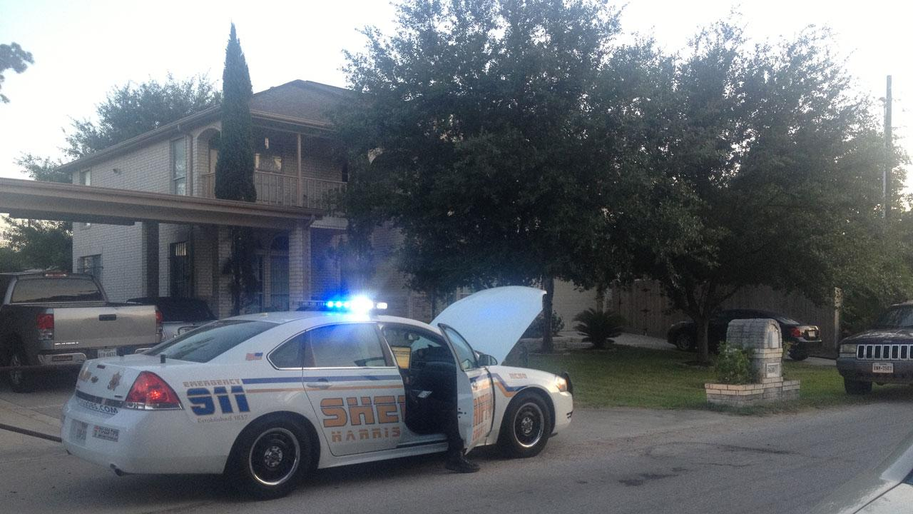 HCSO investigators at the scene of an apparent child drowning in Harris County