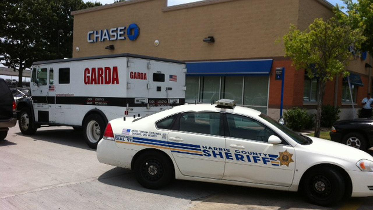 The robbery happened right outside a Chase bank on North Freeway and West Road