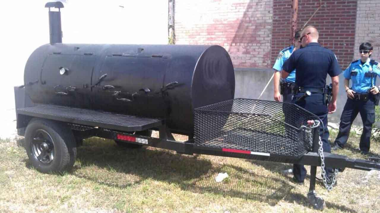 BBQ pit has been found, a little more paint added, but found, stated a Tweet from @killensbbq on Saturday, along with this photo.