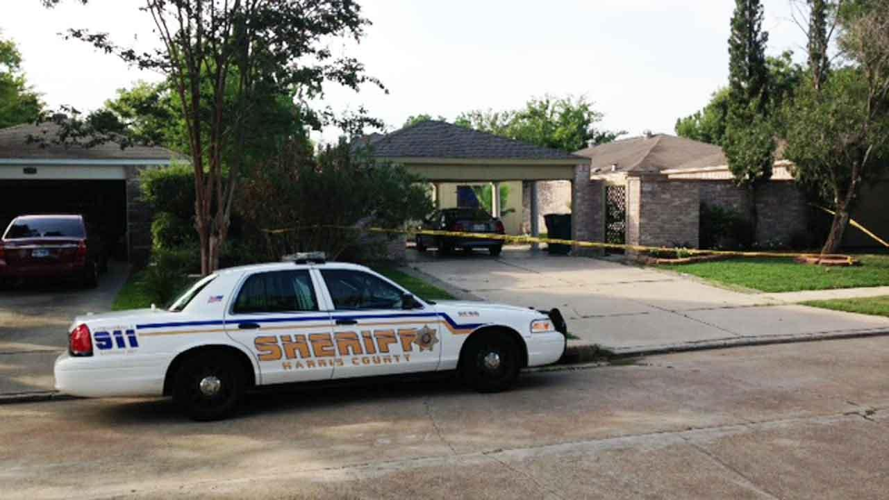 HCSO investigators at the scene of a fatal stabbing in west Harris County