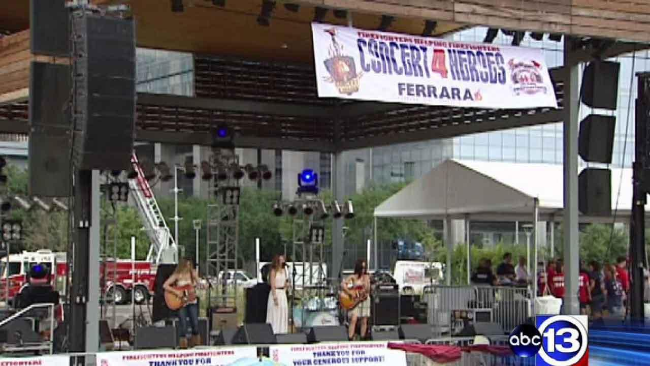 Firefighters Helping Firefighters organization hosts inaugural benefit concert for injured Houston firefighters