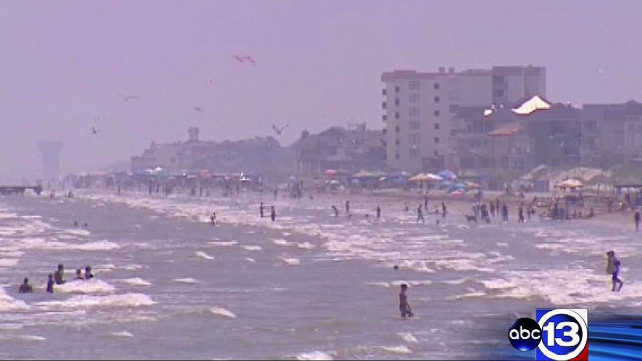 Galveston Island water levels