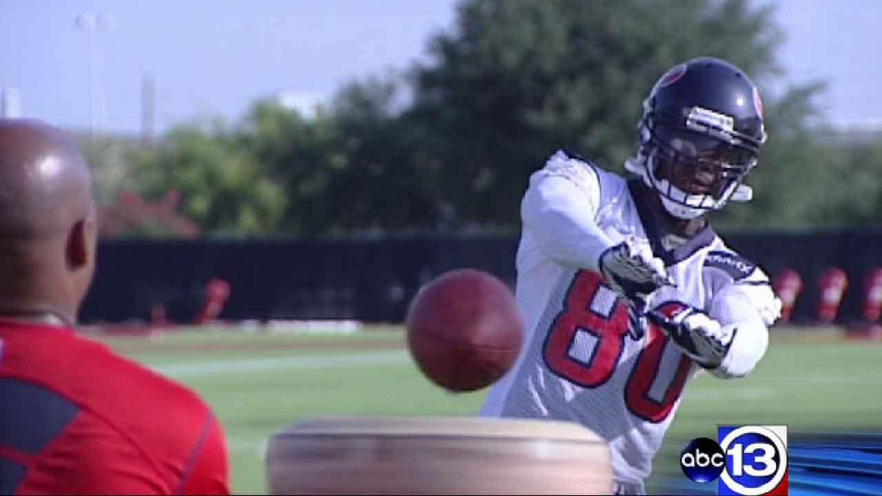 Camp notes: Watt sports brace; Foster's back hurting