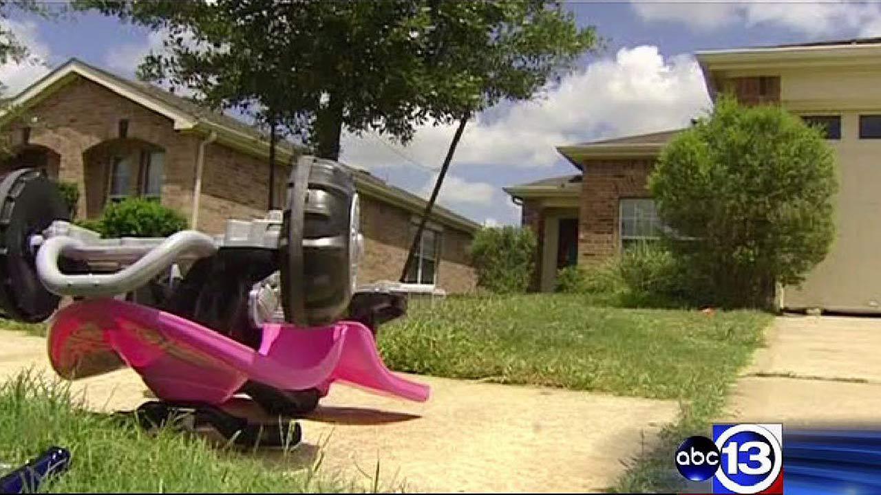 Three-year-old boy shot through front door