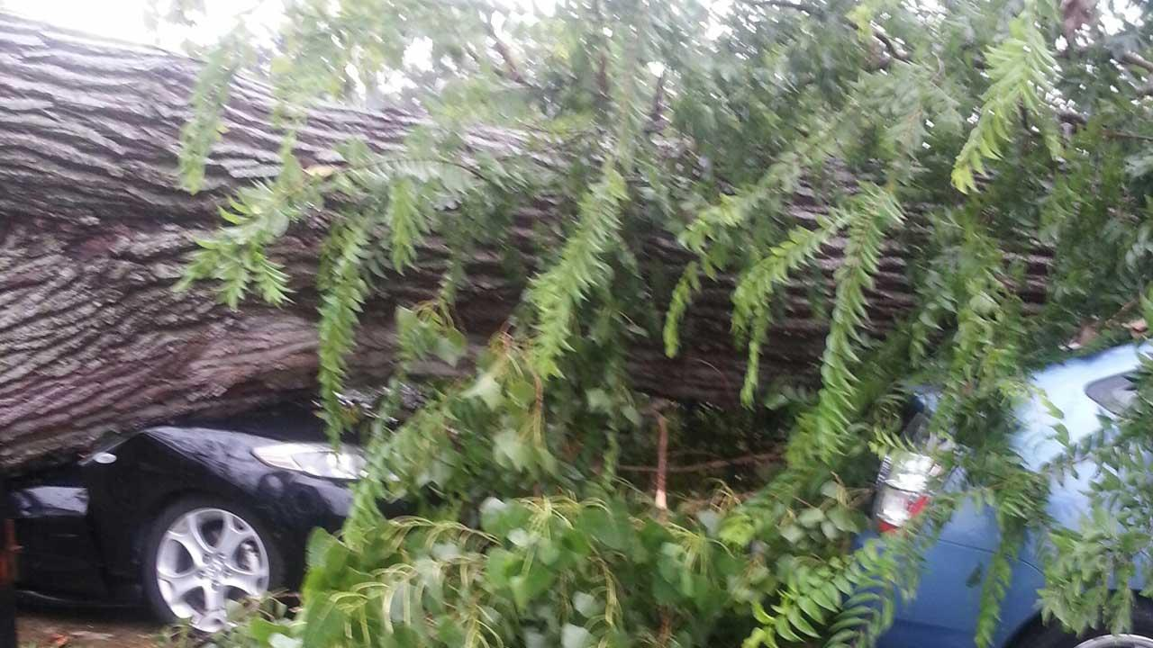 Severe weather moves through southeast Texas
