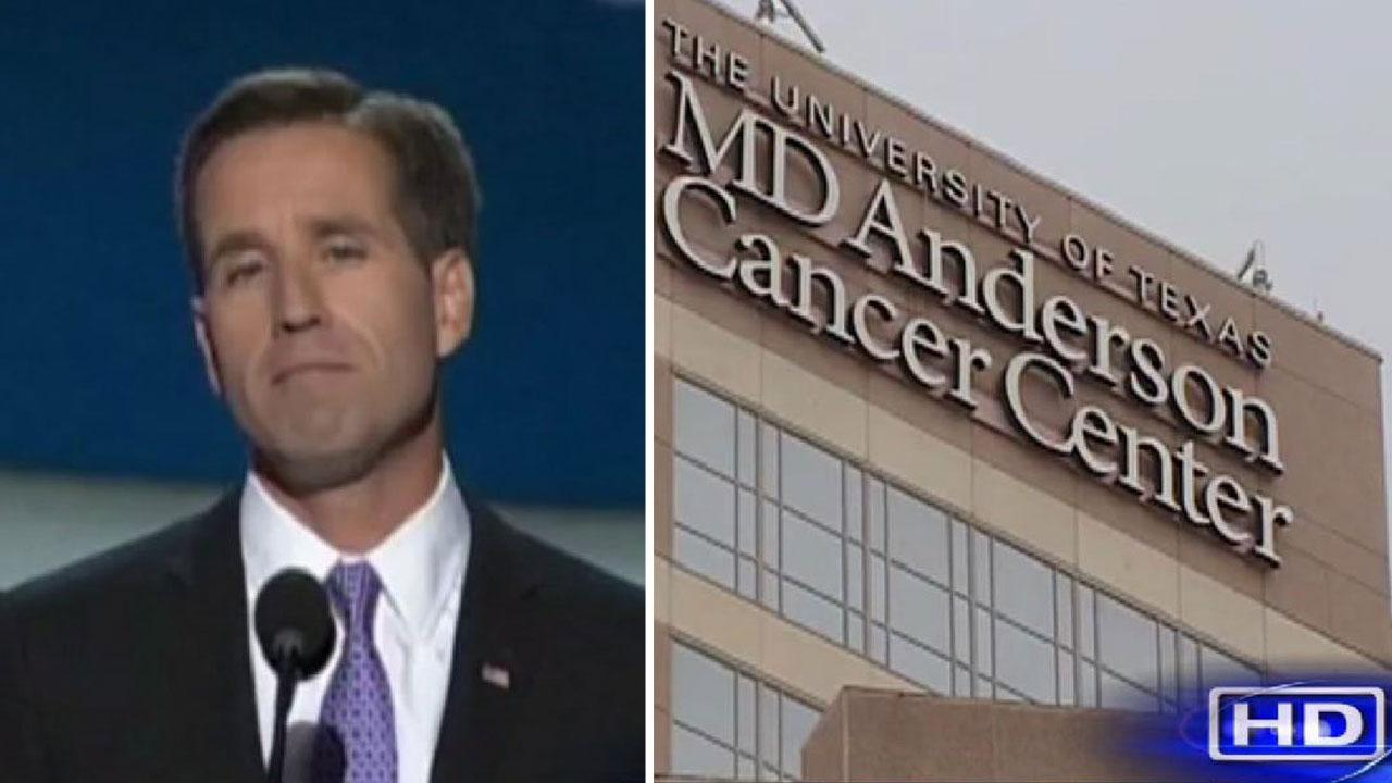 Beau Biden undergoing medical tests at MD Anderson Cancer Center