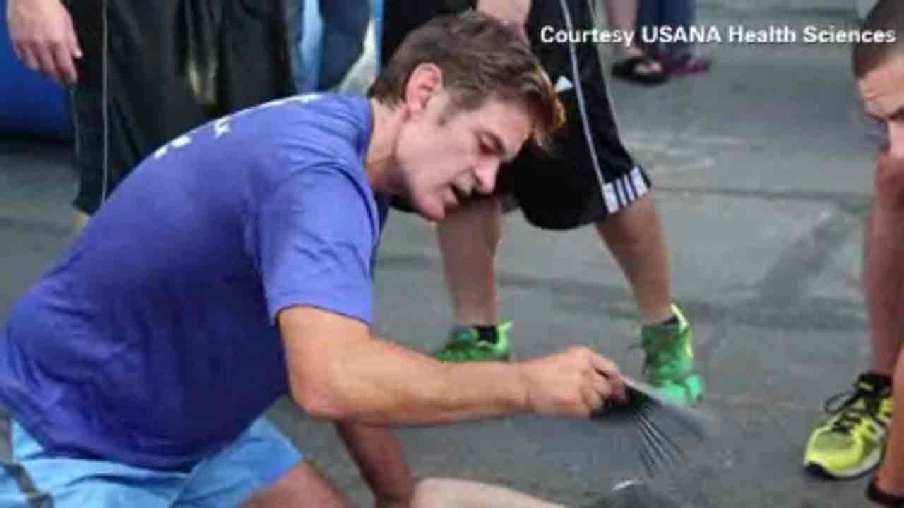 Dr. Oz, union plumber aid injured British tourist
